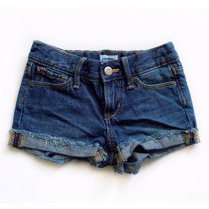 Old Navy Dark Denim Shortie Shorts Size 5